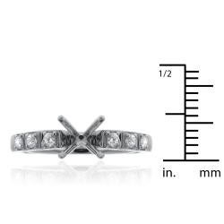 14k White Gold 1/5ct TDW Semi-mount Diamond Engagement Ring