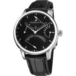 Maurice Lacroix Men's MP6518-SS001-330 'Master Piece' Black Dial Retrograde Watch
