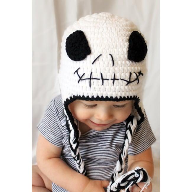 Handmade Boy's Skull Earflap Hat