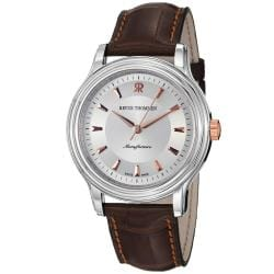 Revue Thommen Men's 'Classic' Brown Strap Automatic Watch