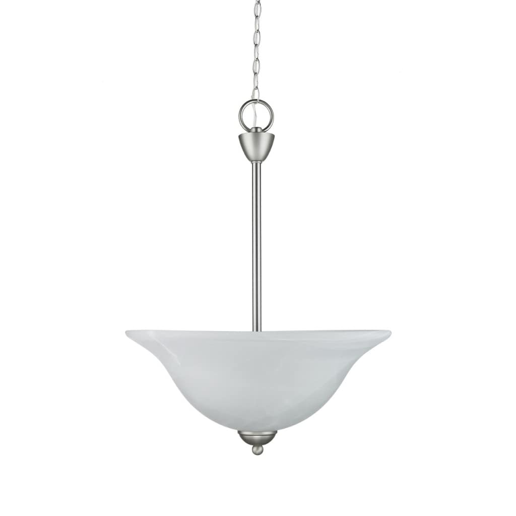 Chloe Transitional 3-light Satin Nickel Inverted Pendant