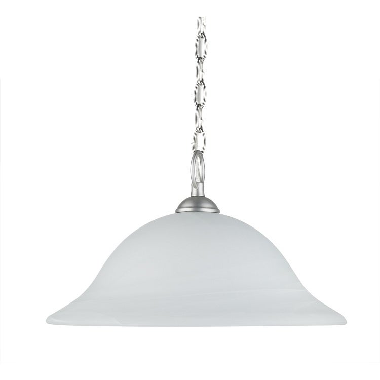 Transitional 1 light Satin Nickel Pendant