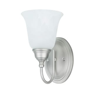 Transitional 1-light Wall Sconce Bath in Satin Nickel