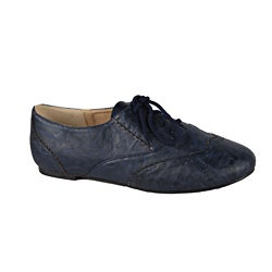 Modesta by Beston Women's 'Maya-04' Blue Lace-up Oxfords