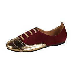 Modesta by Beston Women's 'Maya-05' Burgundy Oxfords