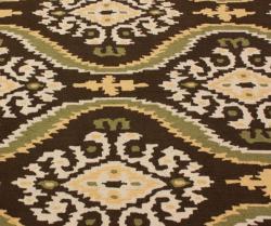 nuLOOM Handmade Ikat Brown Rug (5' x 8')