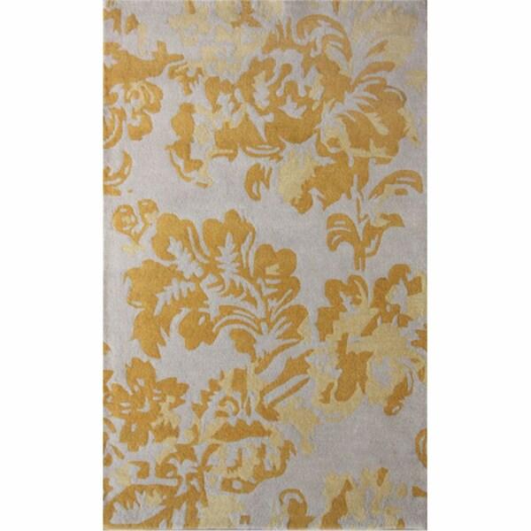 nuLOOM Handmade Floral Grey Wool Rug (7'6 x 9'6)