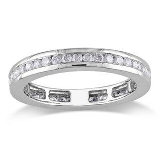 Miadora 14k White Gold 4/5ct TDW Diamond Eternity Ring (G-H, I1-I2)