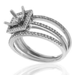 14k White Gold 1/3ct TDW Semi-Mount Diamond Ring