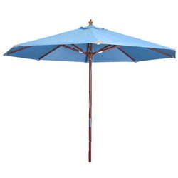 Lauren & Company Light Blue Market Umbrella (9')
