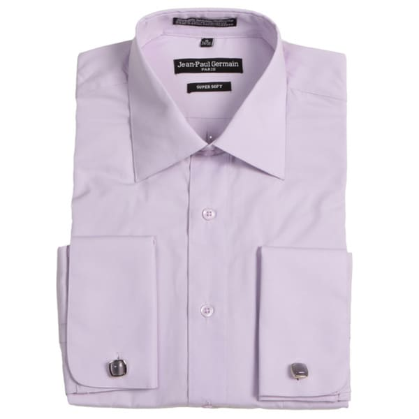 Jean Paul Germain Men's Lavender French Cuff Dress Shirt