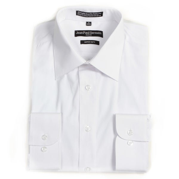 Jean Paul Germain Men's White Convertible Cuff Dress Shirt