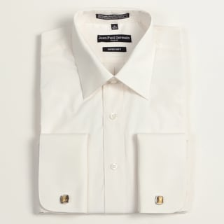 Jean Paul Germain Men's Bone French Cuff Dress Shirt