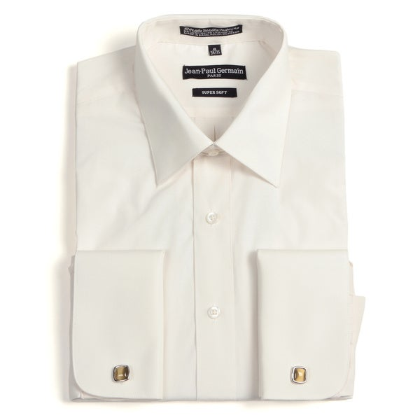 Jean paul germain men 39 s bone french cuff dress shirt for Mens dress shirts french cuffs