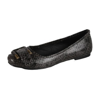 Modesta by Beston Women's 'Jaime-01' Black Flats