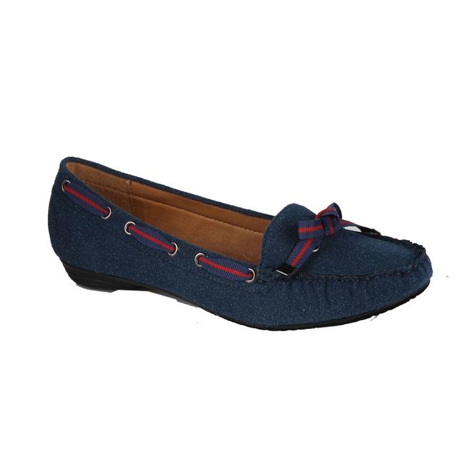 Modesta by Beston Women's 'Poma-01' Blue Loafers