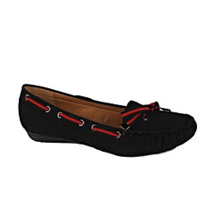 Modesta by Beston Women's 'Poma-01' Black Loafers