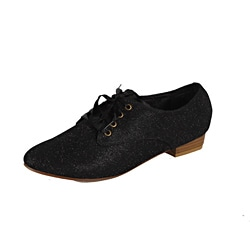 Modesta by Beston Women's 'Maya-03' Black Sparkle Oxfords