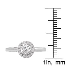 Avanti 14k White Gold 1/2ct TDW Halo Diamond Engagement Ring (G/H, SI1-SI2)