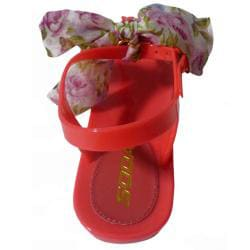 I-Comfort Women's Satin Tie Jelly Sandal