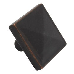 GlideRite Square Pyramid Oil Rubbed Bronze Cabinet Knobs (Pack of 10)