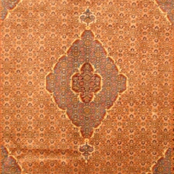 Persian Hand-knotted Moud Light Brown/ Light Blue Wool Rug (6'7 x 9'8)