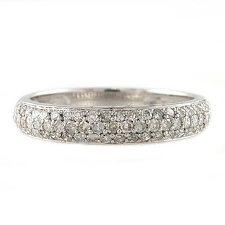 Beverly Hills Charm Sterling Silver 1/2ct TDW Diamond Band Ring (H-I, I2-I3)