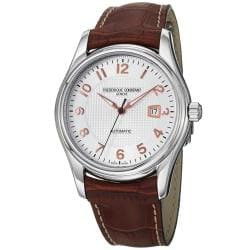 Frederique Constant Men's 'RunAbout' Brown Leather Strap Watch