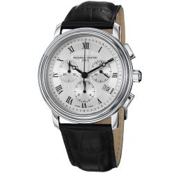 Frederique Constant Men's 'Persuasion' Silver Dial Black Strap Watch