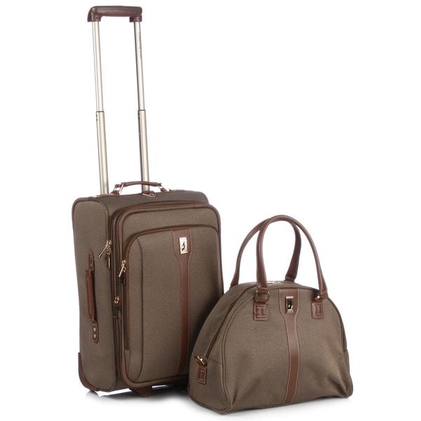 London Fog Oxford 2-piece Carry On Luggage Set