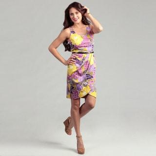 London Times Cotton Floral Print Dress