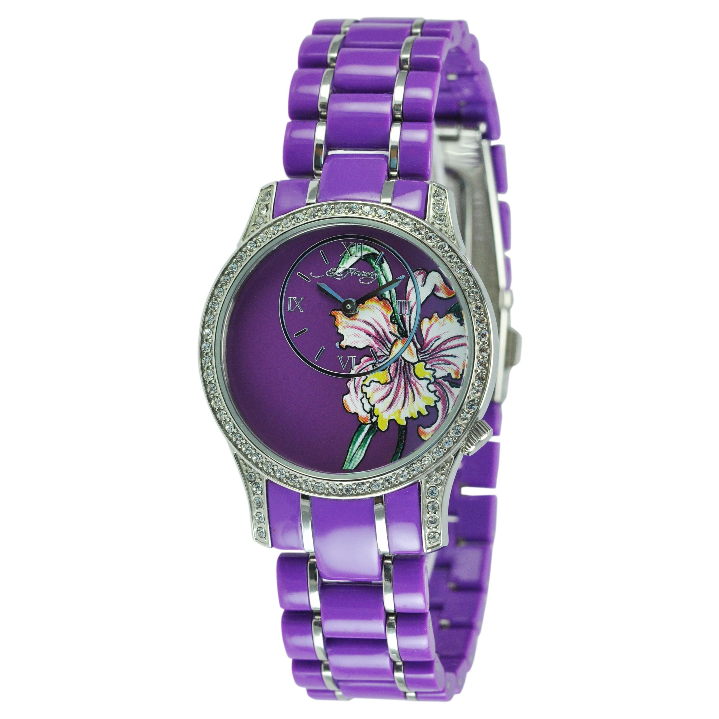 Ed Hardy Women's Jasmine Purple Watch