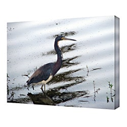 John Black 'The Rippled Crane' Gallery Wrapped Canvas Art