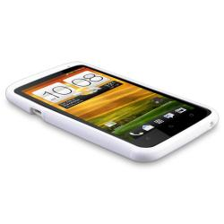 White TPU Case/ Screen Protector/ Wrap for HTC One X