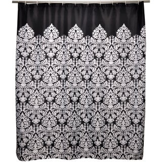 Waverly Essence Black Shower Curtain