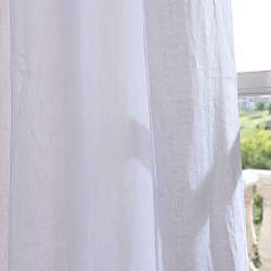 Signature Purity White French Linen Sheer Curtain Panel