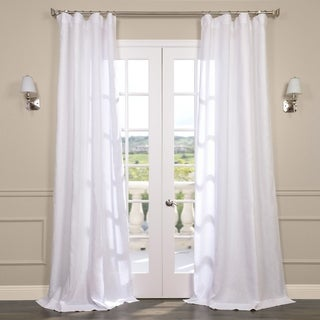 Exclusive Fabrics Signature Linen Sheer Curtain Panel