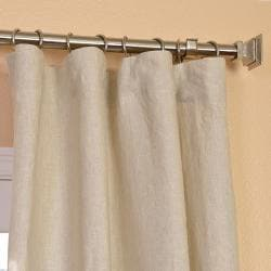 Signature Beige French Linen Sheer Curtain Panel