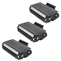 Brother TN650 Compatible Black Toner Cartridges (Set of 3)