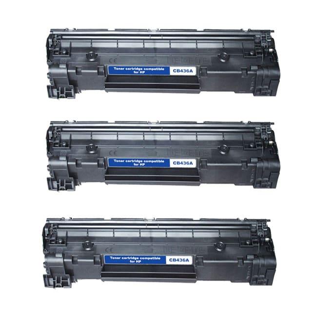 HP CB436A Compatible Black Toner Cartridges (Pack of 3)