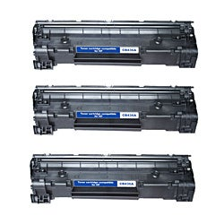 HP CB436A Compatible Black Toner Cartridges (Pack of 3)