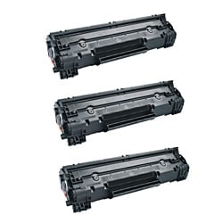 HP CE278A Compatible Black Toner Cartridges (Set of 3)