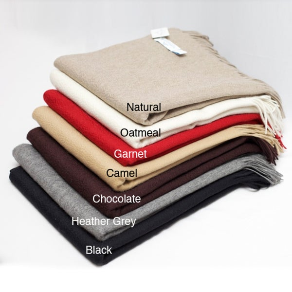 Lucy' 100-percent Cashmere Throw Blanket