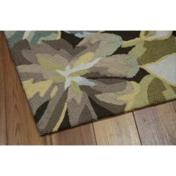 Nourison Hand-hooked Fantasy Brown Rug (3'6 x 5'6)