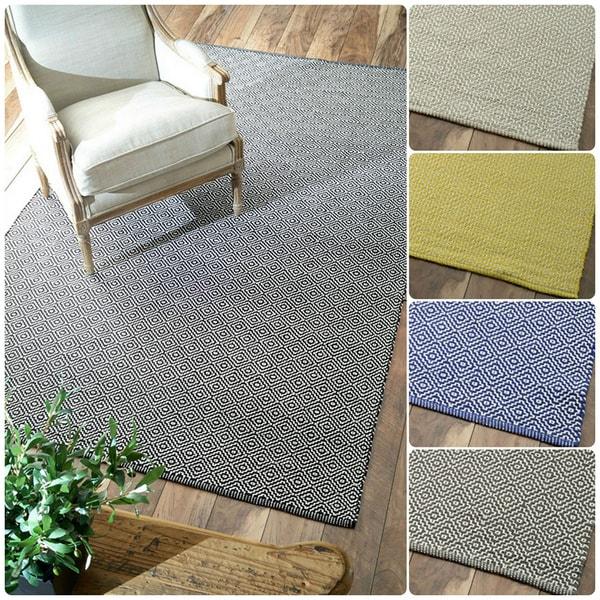 Nuloom Handmade Flatweave Diamond Cotton Rug 8 X 10