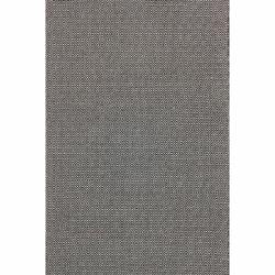 nuLOOM Handmade Flatweave Diamond Black Cotton Rug (5' x 8')