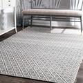nuLOOM Handmade Flatweave Moroccan Trellis Cotton Rug (5' x 8')