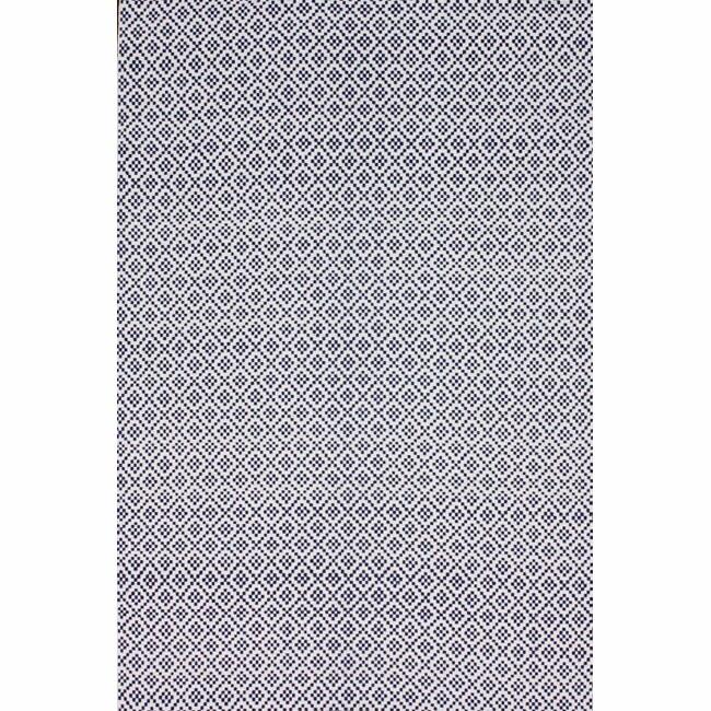 NuLOOM Handmade Flatweave Moroccan Trellis Navy Cotton Rug