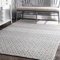 nuLOOM Handmade Flatweave Moroccan Trellis Cotton Rug (8' x 10')