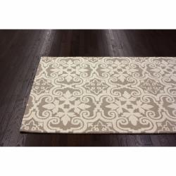 nuLOOM Handmade Spanish Tiles Beige Wool Rug (5' x 8')
